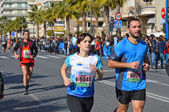 Runners In A Marathon Stock Photography