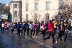 Runners of Course de Escalada Stock Images