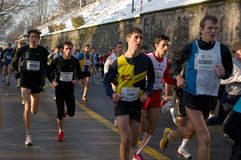 Runners of Course de Escalada Royalty Free Stock Photos