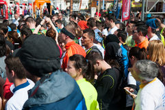 Runners crowd Royalty Free Stock Photography
