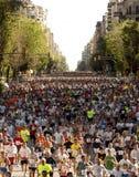 Runners on Cursa de El Corte Ingles Stock Images