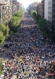 Runners on Cursa de El Corte Ingles Royalty Free Stock Images