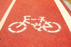 Runners and cyclists tracks Royalty Free Stock Images