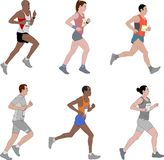 Runners,detailed illustration. Collection - vector royalty free illustration