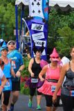 Runners dressed in costume Stock Image