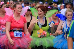 Runners dressed in costume Royalty Free Stock Photography