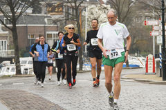 Runners in 'Dwars door Dort' Royalty Free Stock Photo