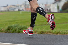Runners feet, triathlon Royalty Free Stock Photos