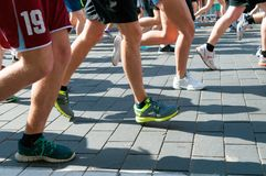Runners foots 1 Stock Image