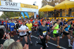 Runners at Frankfurt Marathon Stock Photos