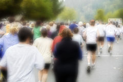 Runners at the Great Columbia Crossing Stock Image