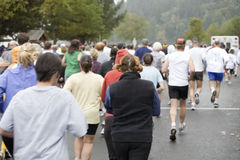 Runners at the Great Columbia Crossing Stock Photography