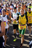 Runners in a half marathon. Runners taking part in the Rome half marathon on the 1st of March 2015, Italy Royalty Free Stock Photo