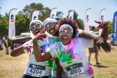 Free Runners Having Fun At Color Run. Stock Images - 122086094