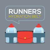 Runners Hydration Belt. Royalty Free Stock Image