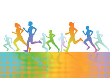 Runners illustration Royalty Free Stock Image