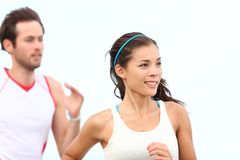 Runners jogging Royalty Free Stock Photography