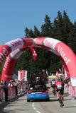Runners at the last kilometer Royalty Free Stock Image