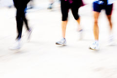 Runners legs with panning blur Stock Images