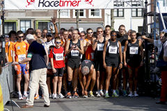Runners line up for the 6th Drechtstedenloop Stock Photography