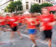 Runners in a long distance race Stock Image