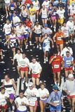 Runners in marathon Stock Image