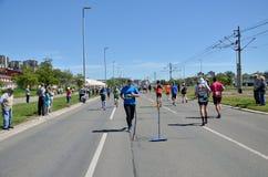Runners During Marathon Race Stock Image