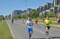 Runners During Marathon Race Stock Photography