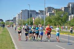Runners During Marathon Race Royalty Free Stock Photos