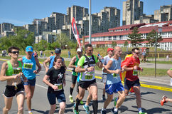 Runners During Marathon Race Stock Images