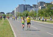 Runners During Marathon Race Royalty Free Stock Photo