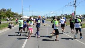 Runners During Marathon Race stock footage
