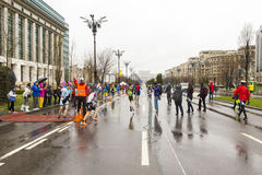 Runners. At a marathon race in Bucharest, Romania Royalty Free Stock Images