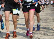 Runners of the marathon race during Stock Photo