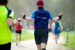 Runners  at marathon race Royalty Free Stock Images