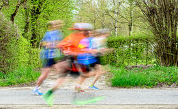 Runners  at marathon race Royalty Free Stock Image