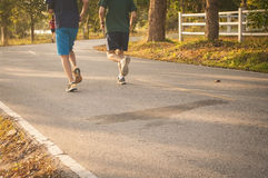 Runners in the morning Royalty Free Stock Image
