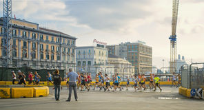 Runners, Naples Italy Royalty Free Stock Photo