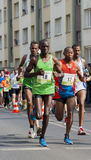 Runners from Nigeria compete in the Marathon Stock Image