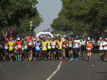Runners participating in the Comrades Marathon Royalty Free Stock Images