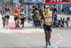 Runners Participating  in the Comrades Marathon in South Africa Stock Photo