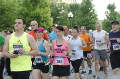 Runners. In the 2013 Peoria IL Marathon Royalty Free Stock Photos
