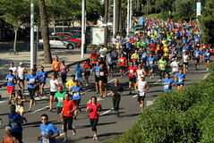 Runners on the popular race royalty free stock photography