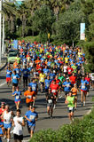 Runners on the popular race Stock Photo