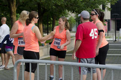 Runners. Pre race. The May 19th 2013 Peoria IL 1st Marathon Stock Photography
