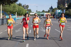 Runners in a Race Royalty Free Stock Image