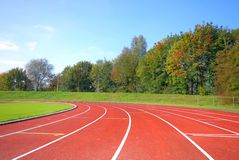 Runners racetrack Royalty Free Stock Photo
