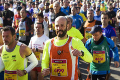 Runners in the Rome half marathon Stock Photography