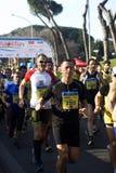 Runners in the Rome half marathon Stock Photos