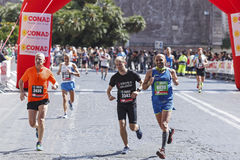 Runners at the Rome Marathon in 2016. Stock Photography